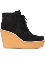 Derek Lam 10 Crosby Platform Lace Up Boots Black