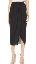 Bec And Bridge Vital Drape Skirt Black