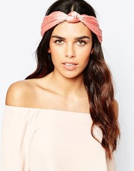 Johnny Loves Rosie Taylor Coral Headband Pink