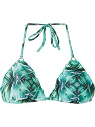 Blue Man Prism Print Triangle Bikini Top