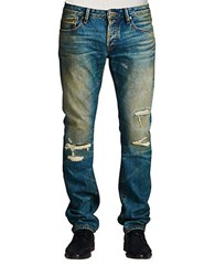 Cult Of Individuality Rebel Straight Dhen Wash Jeans Blue