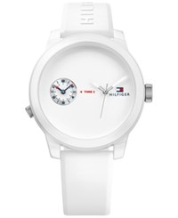 Tommy Hilfiger Men's Cool Sport White Silicone Strap Watch 42Mm 1791324