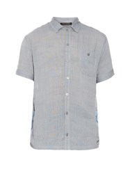 Longjourney Camp Contrast Panel Cotton Shirt