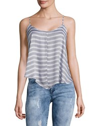 Free People Oversized Striped Tank Blue