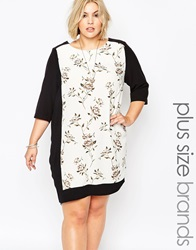 Carmakoma Plus Size Calca Shift Dress Blackskyeblue