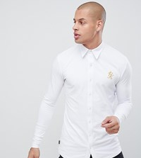 Gym King Muscle Long Sleeve Shirt In White Exclusive To Asos