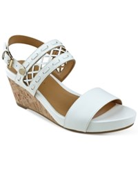 Tommy Hilfiger Jenesis Platform Wedge Sandals Women's Shoes White