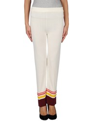 Scaglione Trousers Casual Trousers Women Ivory
