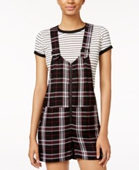 Be Bop Juniors' Plaid Shortalls Black Burg