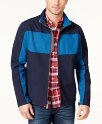 London Fog Men's Colorblocked Soft Shell Jacket New Navy
