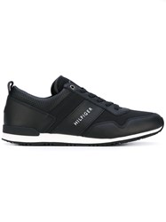 Tommy Hilfiger Lace Up Sneakers Men Calf Leather Leather Polyester Rubber 45 Black