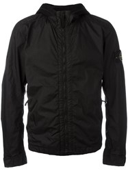 Stone Island Hooded Anorak Jacket Black