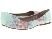 Sanuk Yoga Eden Mint Floral Women's Flat Shoes Blue