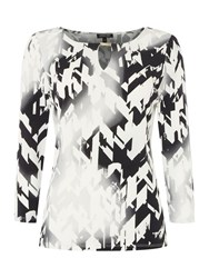 Episode Long Sleeved Top With Abstract Print Black