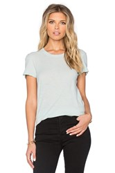 James Perse Sheer Slub Crewneck Tee Mint