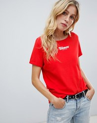 Maison Scotch Logo T Red