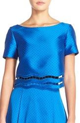 Women's Sachin And Babi Noir 'Chang' Perforated Eyelet Top