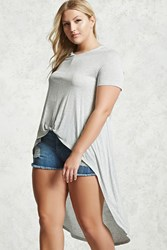 Forever 21 Plus Size Knotted High Low Tee