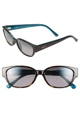 Women's Maui Jim 'Anini Beach' 53Mm Polarized Sunglasses Tortoise Peacock Blue Grey
