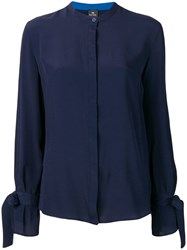 Paul Smith Ps Concealed Front Shirt Blue