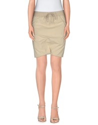 Drkshdw By Rick Owens Skirts Mini Skirts Women Beige