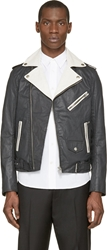 Diesel Black And White J Sebi Biker Jacket