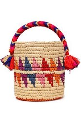 Yosuzi Woman Nini Tasseled Woven Straw Bucket Bag Multicolor