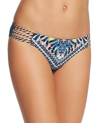 Red Carter Graphic Print Classic Bikini Bottom Deep Lake Multi