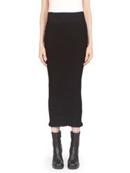 Rick Owens Ribbed Knit Skirt Black