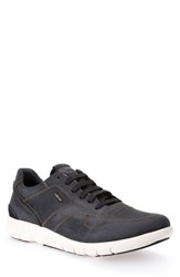 Geox Men's 'U Brattley' Sneaker Black Leather