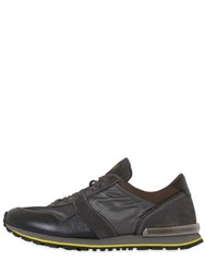 Tod's Spoiler Nylon And Leather Running Sneakers