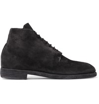 Guidi Suede Lace Up Boots Black