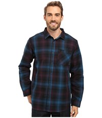 Mountain Hardwear Reversible Plaid Long Sleeve Shirt Phoenix Blue Men's Long Sleeve Button Up