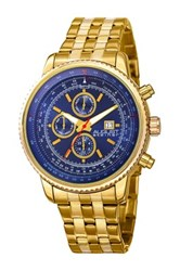 August Steiner Men's Swiss Quartz Bracelet Watch Metallic