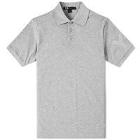 Y 3 Sleeve Logo Polo Grey