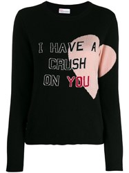 Red Valentino I Have A Crush On You Sweater Black