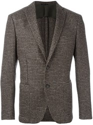 Tonello Woven Effect Blazer Brown