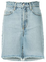 Nobody Denim Tyler Raw Hem Shorts Blue