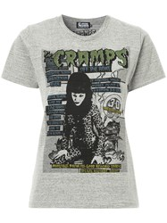 Hysteric Glamour The Cramps T Shirt Cotton Polyester Grey