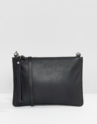 Warehouse Leather Across Body Bag In Black