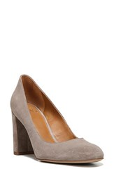 Sarto By Franco Sarto Women's 'Aziza' Block Heel Pump Warm Stone Suede
