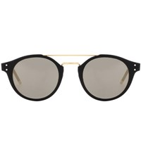 Bottega Veneta Mirrored Sunglasses Black