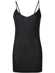 Iro Long Fit Tank Top Black