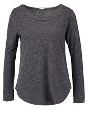 Jdylinette Long Sleeved Top Dark Grey Melange Mottled Dark Grey