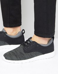 New Look Trainers With Contrast Trim In Black Black