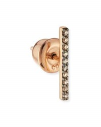 Kismet By Milka Lumiere 14K Rose Gold And Champagne Diamond Long Stick Earring