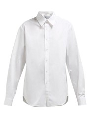 Martine Rose Logo Embroidered Cotton Shirt White