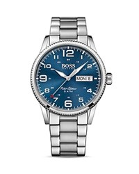Hugo Boss Pilot Watch 44Mm Blue Silver