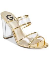 G By Guess Brayla Lucite Dress Sandals Women's Shoes Gold