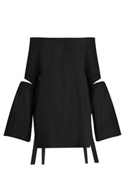 Ellery Cyril Off The Shoulder Cotton Top Black